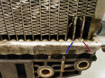 Ремонт трубок радиатора