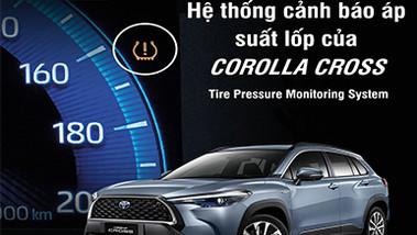 Giới thiệu xe Toyota Cross 2021: Hệ thống cảnh báo áp suất lốp (TPMS)