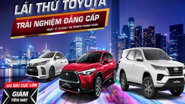 Chương trình trải nghiệm và lái thử xe Toyota tháng 04/2021