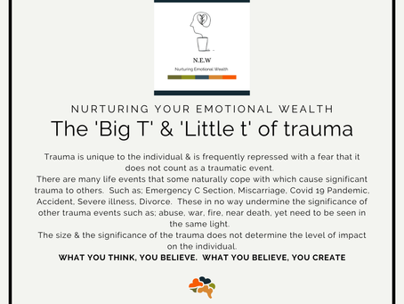 The Big T and little t of trauma