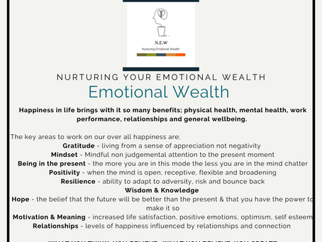 Supporting our Emotional Wealth & Wellbeing