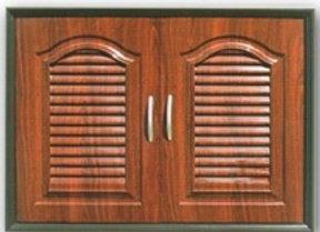 (B)บานซิงค์คู่ PVC ABS แบบลายแวร์ซาย สีไม้สักทอง