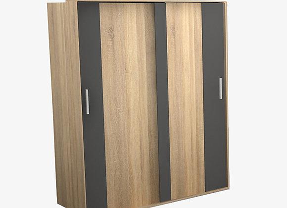 ตู้เสื้อผ้าขนาด 120x55x200cm 3บาน รุ่น UNI-W1004 สีโซลิค GMF