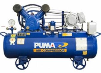 ปั๊มลมระบบสายพาน PUMA3HP เช็ควาล์ว+ออโตเมติก 2สูบ 260L