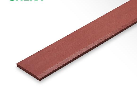 ไม้เชิงชายลบขอบ EA006 15X400ม.X1.6มม. สีสักน้ำผี้ง ตราเฌอร่า