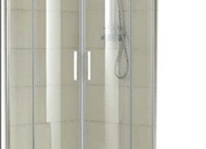 ตู้อาบน้ำโค้ง HAUS HXS900-C 90x90x195 CM เฟรมโครเมี่ยม  ไม่มีถาด