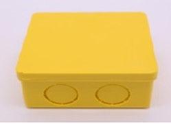 กล่องพักสายสี่เหลี่ยม 2X4เหลือง DEEMA