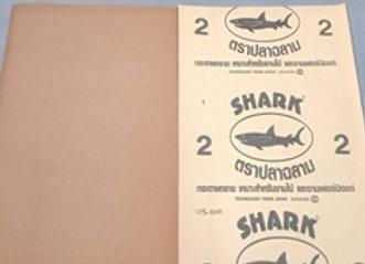 กระดาษทรายขัดแห้ง ฉลาม #2 1แพ็ก/60แผ่น TOA