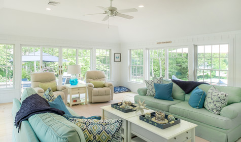 Cape Cod Light Blue Living Room