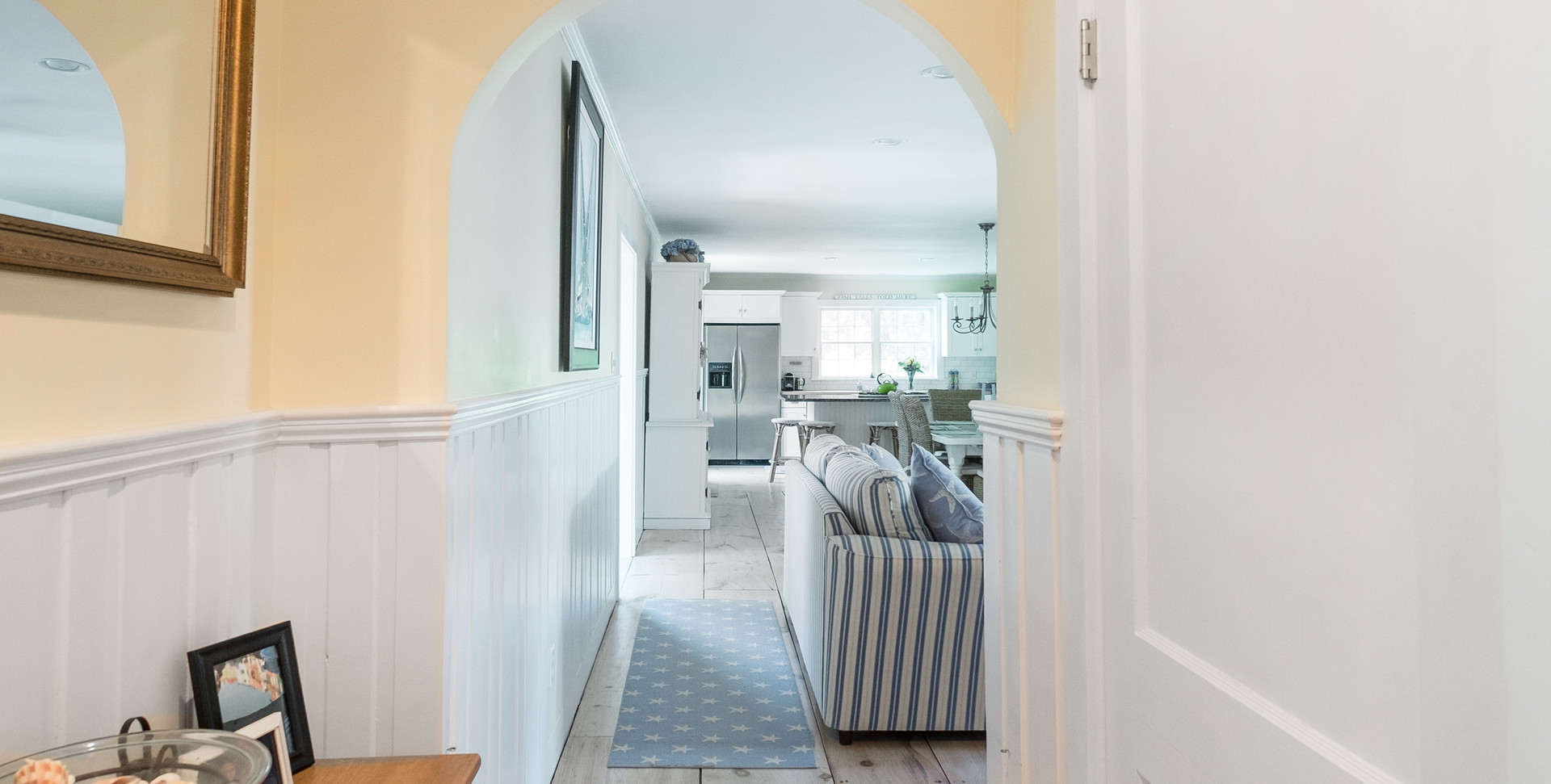 Cape Cod Curved Hallway