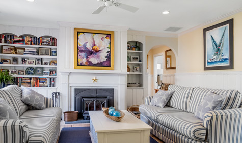 Cape Cod Living Room and Fireplace