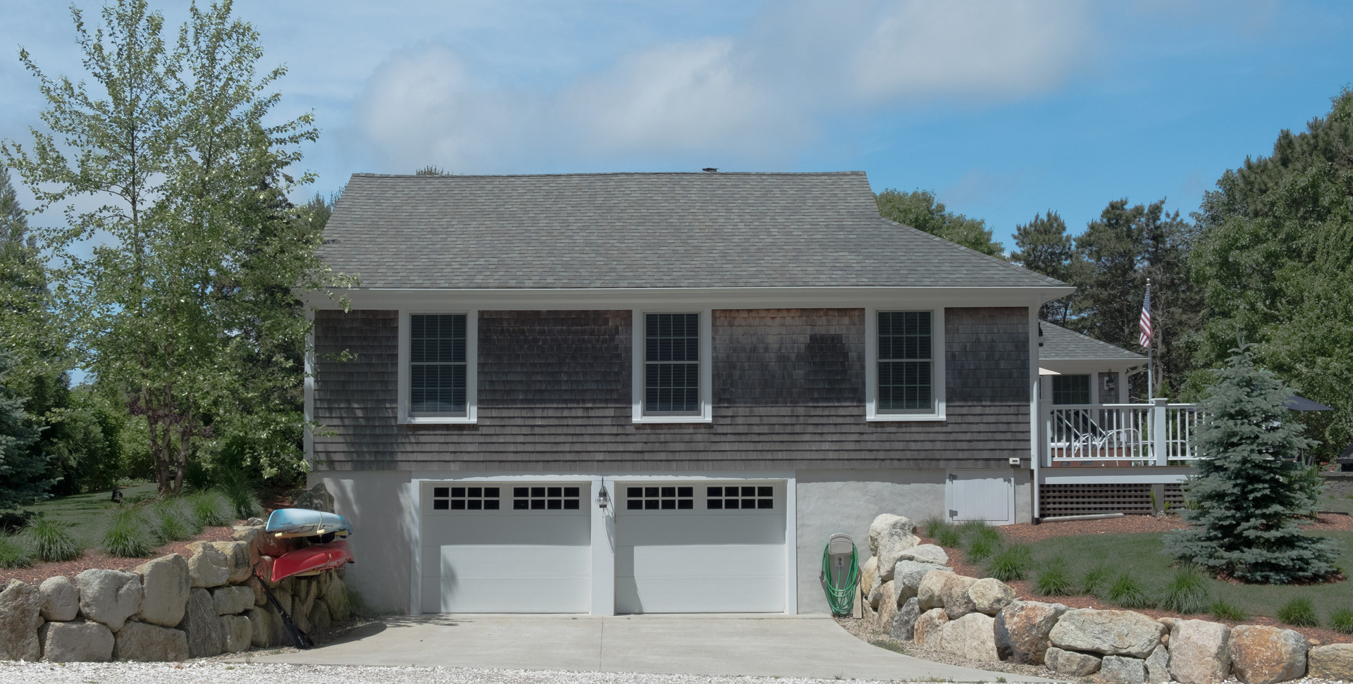 Cape Cod Home with a garage