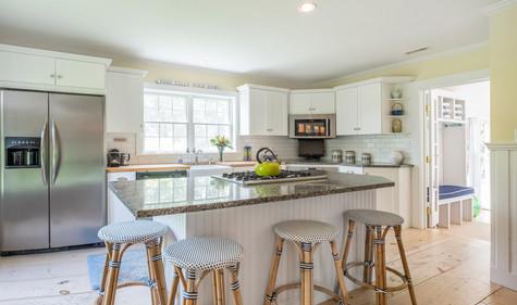 Cape Cod White Kitchen with Island
