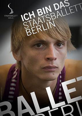 "Poster ""Ich bin das Staatsballett"""