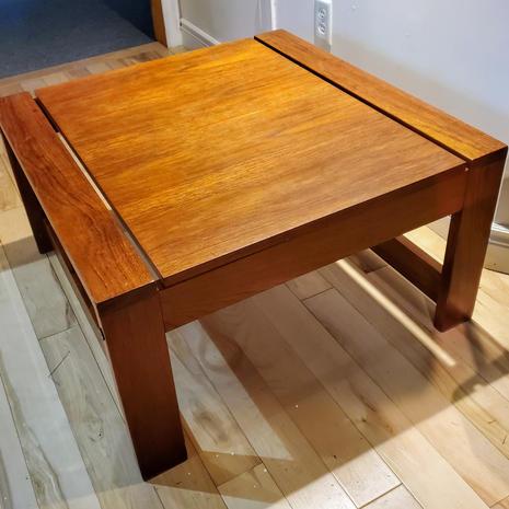 teak coffee table $150