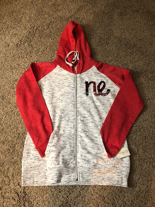 NE Melangefleece Color-Blocked Zip Hoodie