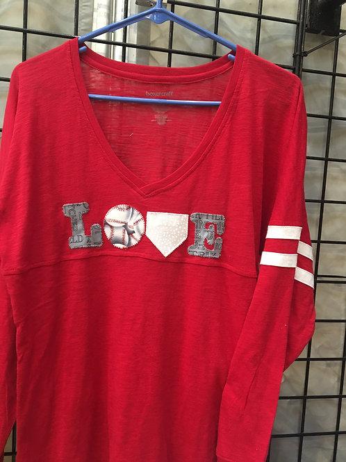 Love Baseball V Neck