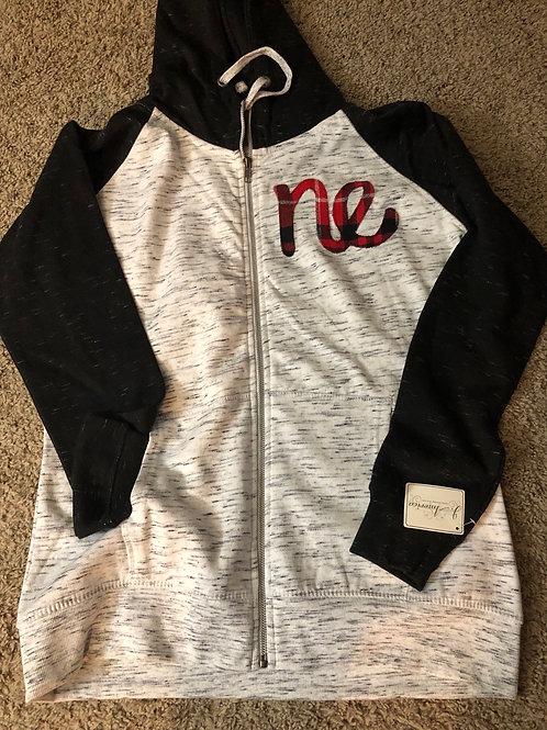 Women's Melangefleece Color-blocked fleece zip hoodie