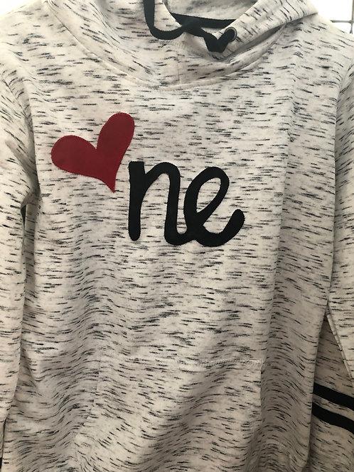NE Fleece striped-sleeves