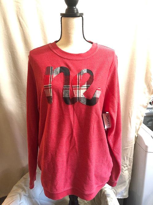 NE Red Corduroy Long Sleeve