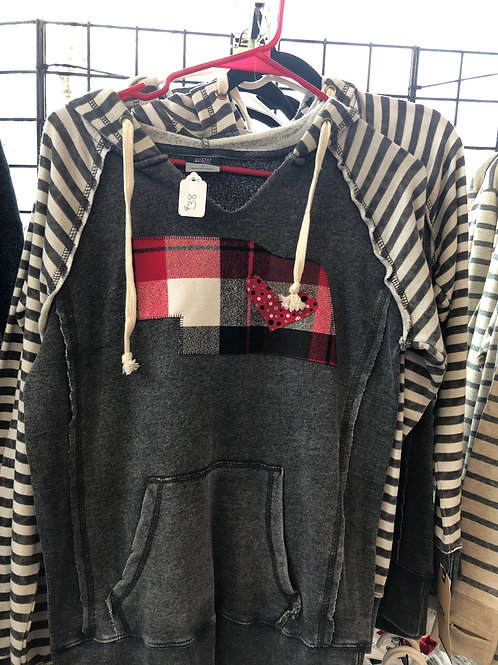 Stripe Sleeved Sweatshirt Available in Multiple Colors!