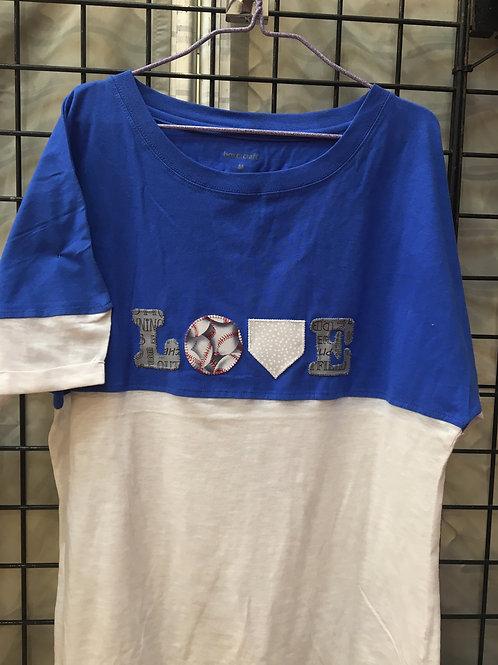 Love Baseball Blue Shirt