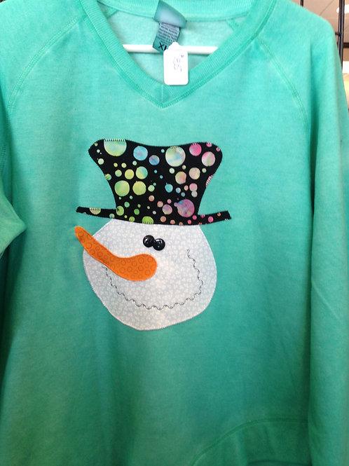 Spearmint Snowman Sweatshirt