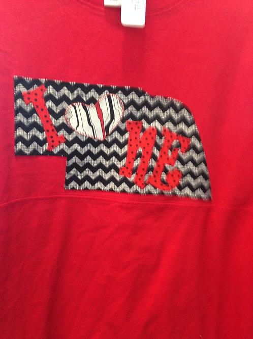 I Love Nebraska Gameday Long Sleeve T-Shirt