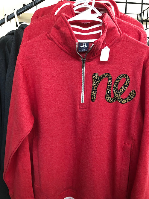 Quarter Zip Fleece Jacket with NE
