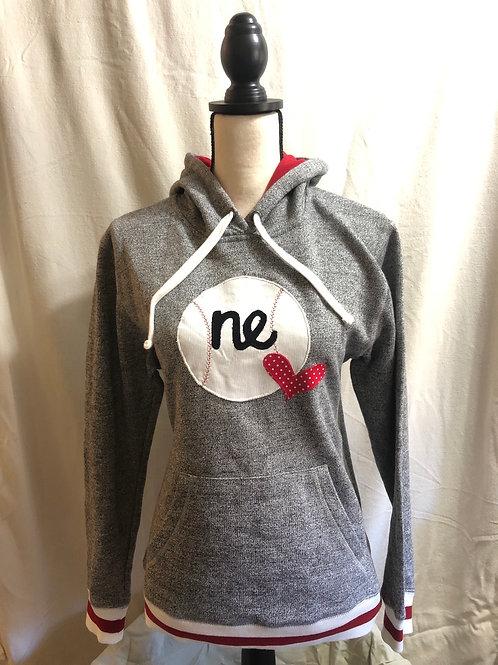 NE Ball Heart Sock Monkey Sweatshirt