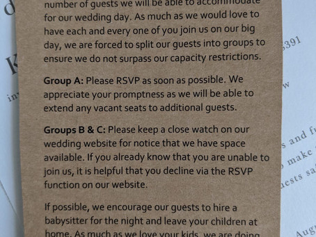 Insulting wedding invitation sparks outrage on social media