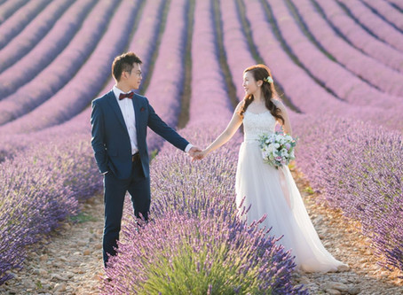 This Couple Took Their Romantic Engagement Photos in a Purple Sea of Lavender