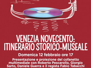 """Presentazione e proiezione del cofanetto """"VeneziaNovecento"""" presso Piazzetta eventi - Cent"""