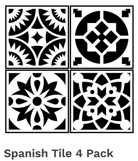 Spanish Tile 4 Pack