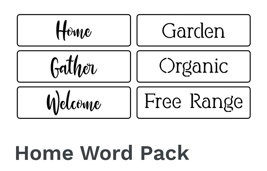 Home Word Pack