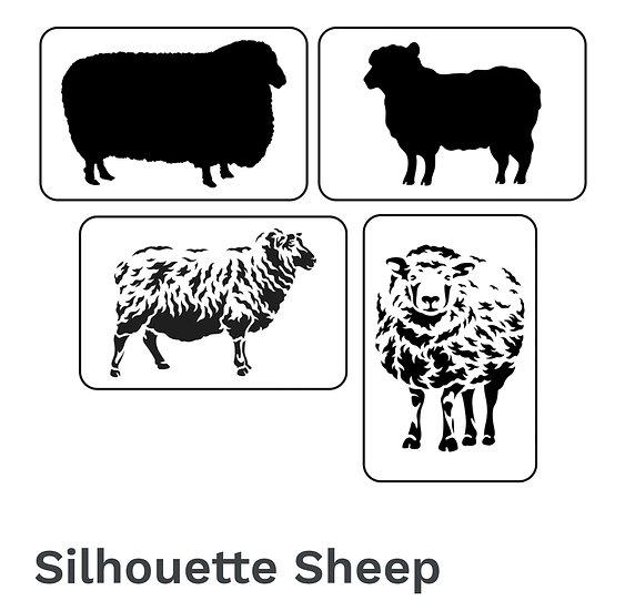 Silhouette Sheep