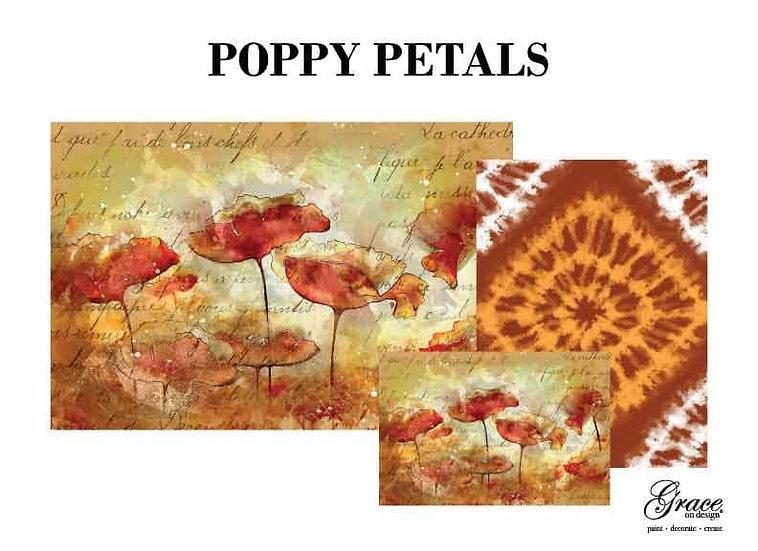 Poppy Petals Decoupage Kit