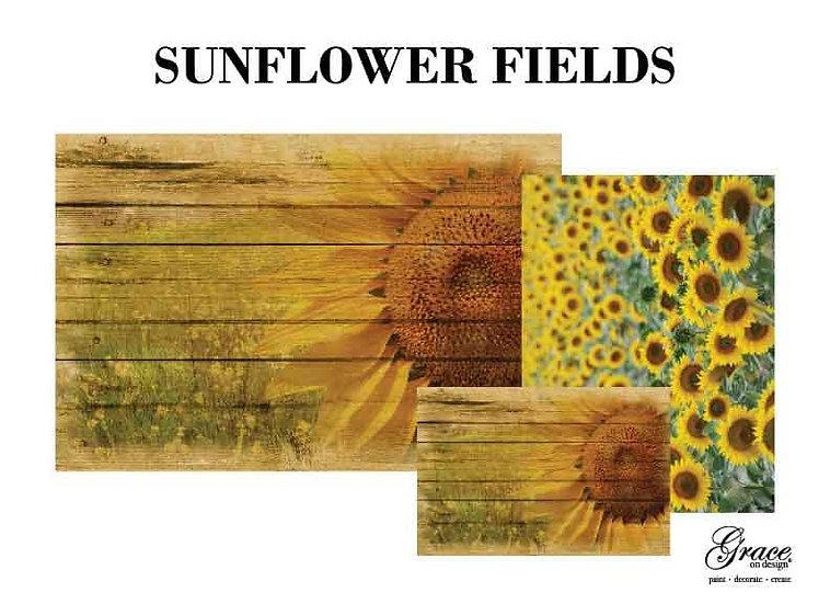 Sunflower Fields Decoupage Kit