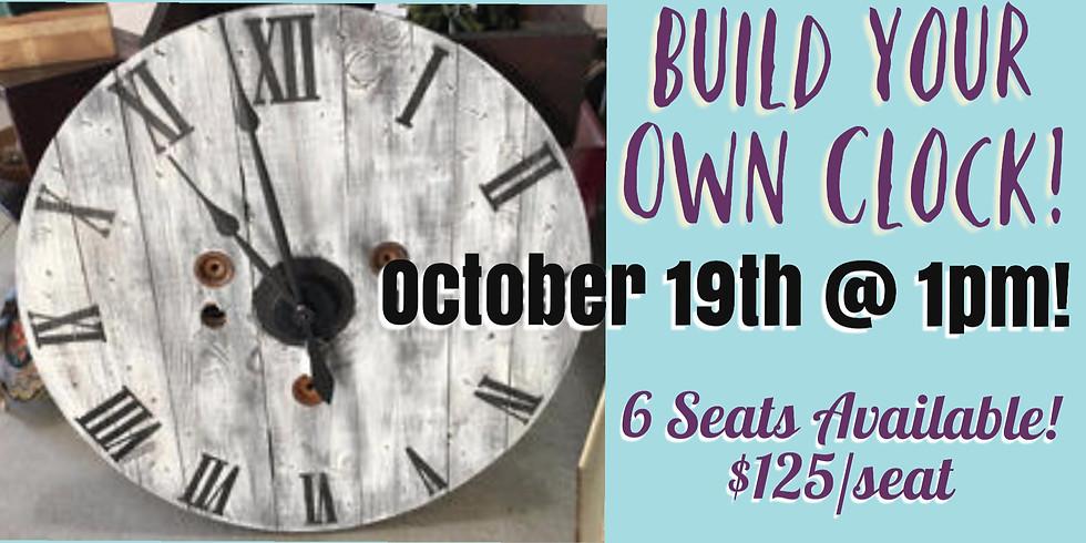 Wood Spool DIY Clock Workshop!