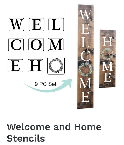 Welcome & Home Stencils