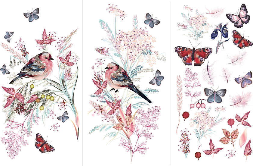 PREORDER * Oiseau Rose HP Transfer