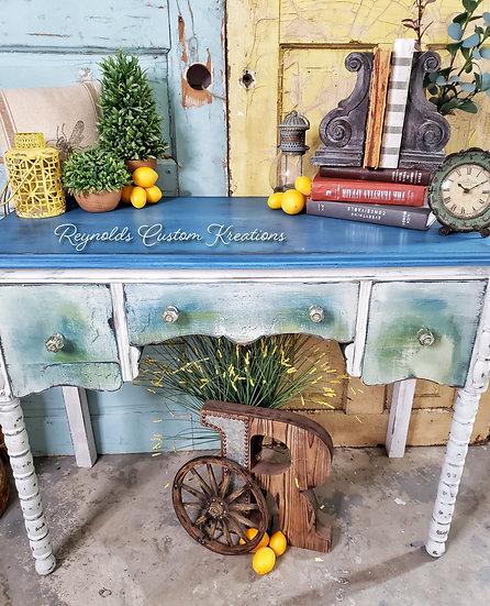"""""""Rustic Denim"""" Vintage Desk"""