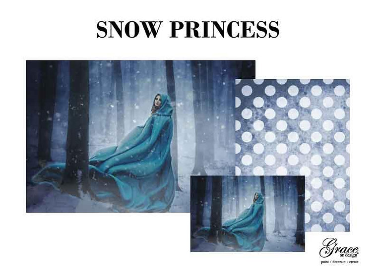 Snow Princess Decoupage Kit