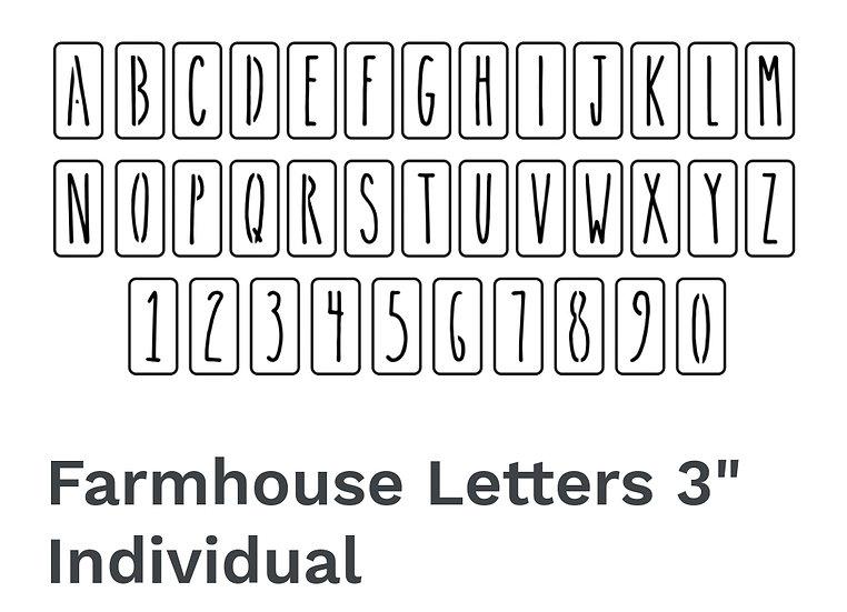 Farmhouse Letters