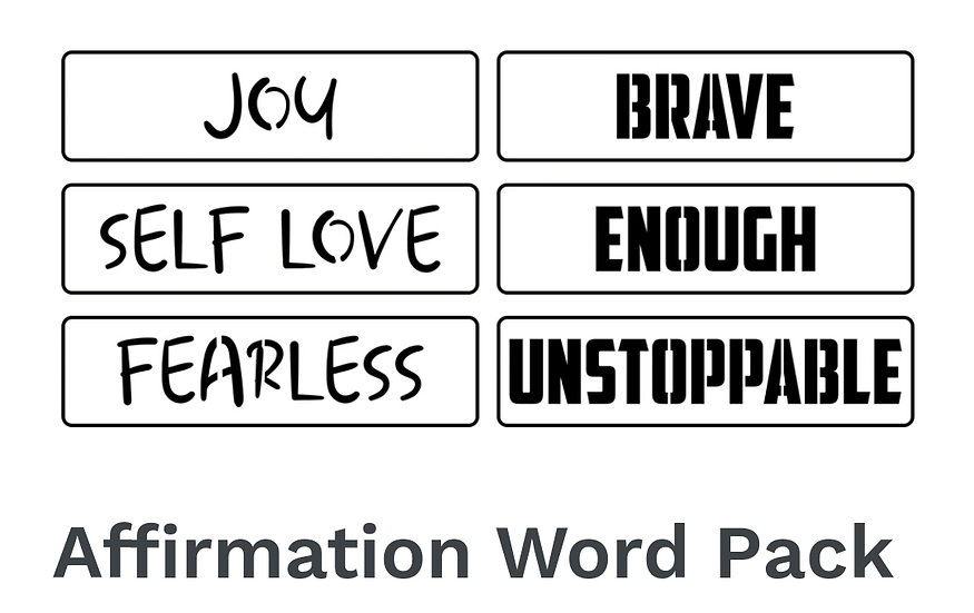 Affirmation Word Pack