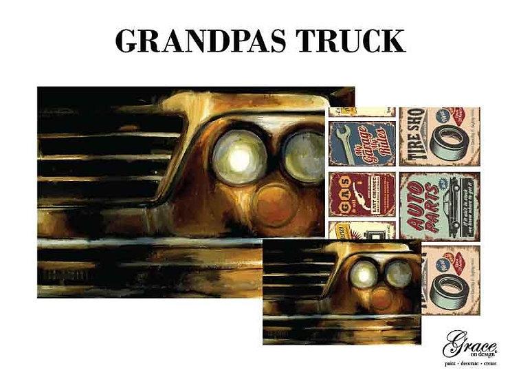 Grandpa's Truck Decoupage Tissue Kit