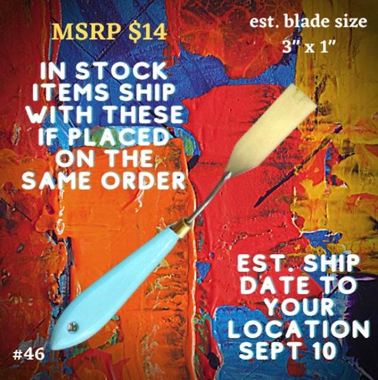 #46 - The Turquoise Iris Pallet Knife
