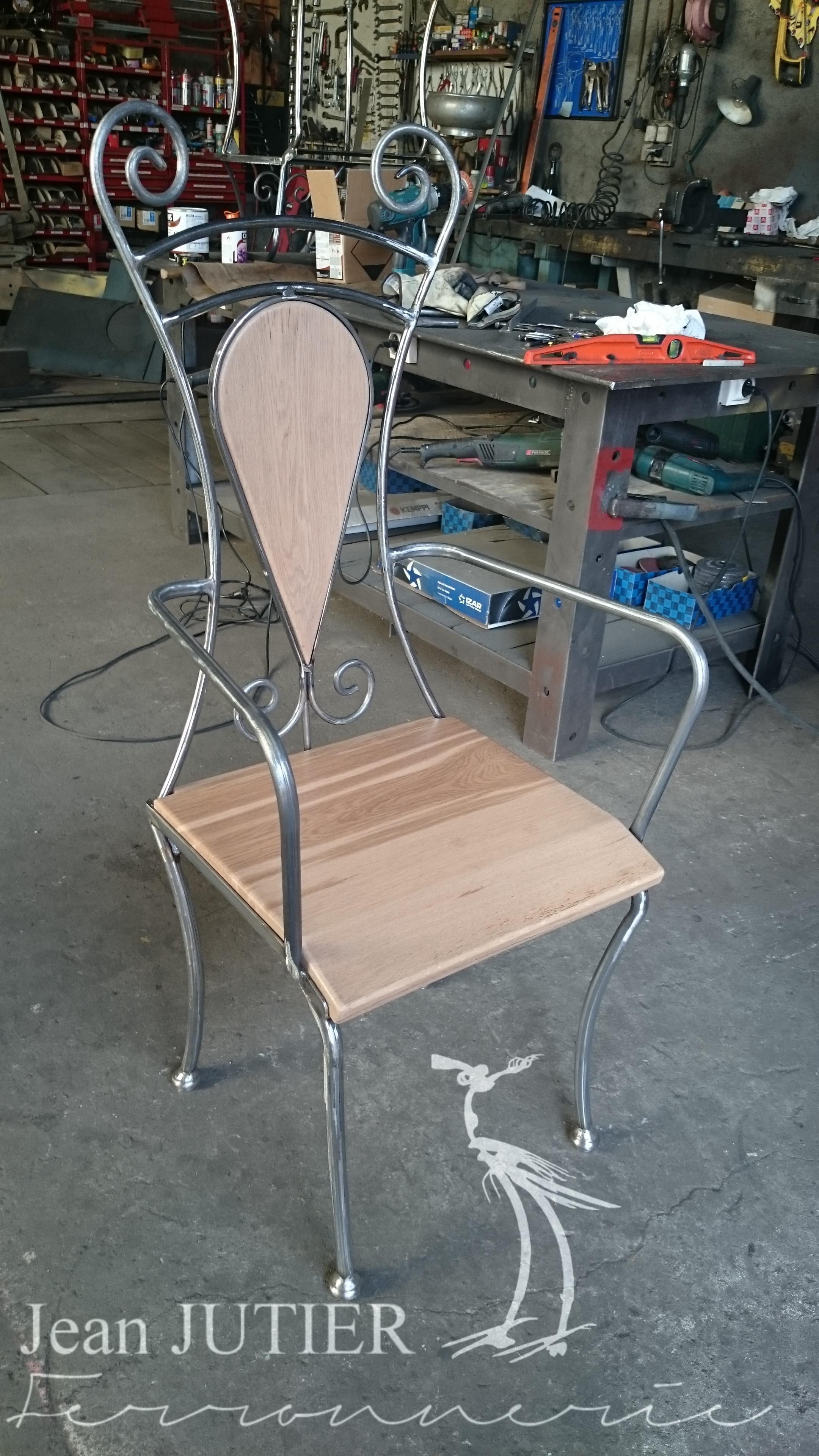 Chaise Fer Forgé Et Bois ferronnerie jean jutier   mobilier   assises