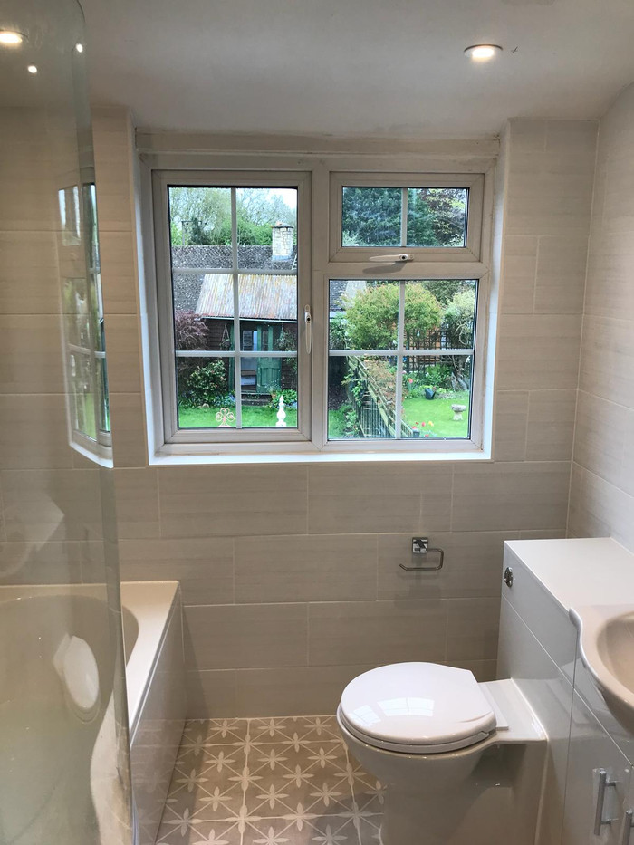 Completed bathroom fit, local plumber