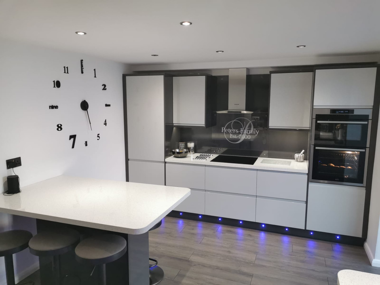 Kitchen fit with associated plumbing work